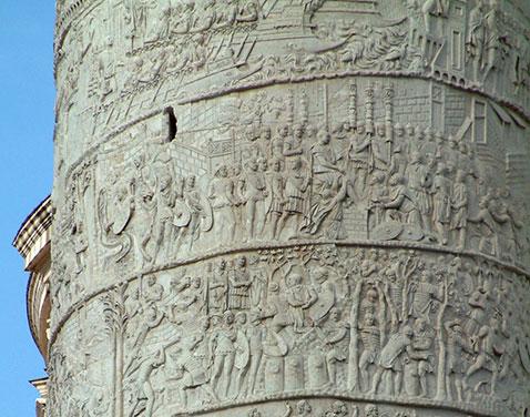 Stone column in Rome